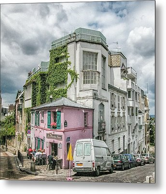 Metal Print featuring the photograph La Maison Rose by Alan Toepfer