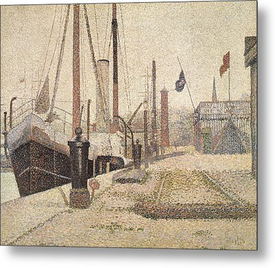 La Maria At Honfleur Metal Print by Georges Pierre Seurat