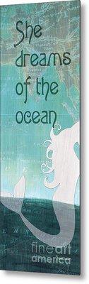 La Mer Mermaid 1 Metal Print by Debbie DeWitt