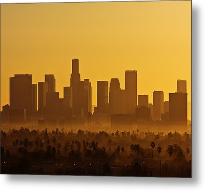 Metal Print featuring the photograph L. A. Morning by Ron Dubin