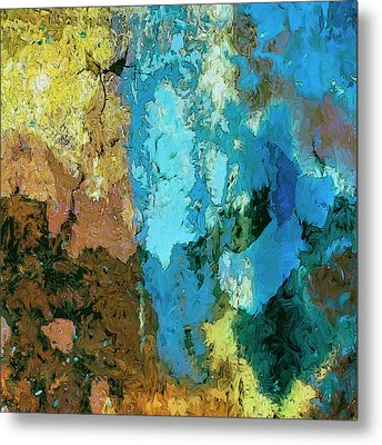 Metal Print featuring the painting La Playa by Dominic Piperata