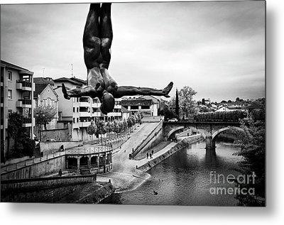 La Plongueuse Over The Midouze River Metal Print by RicardMN Photography