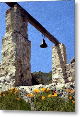 La Purisima Mission Bell Tower Metal Print by Kurt Van Wagner