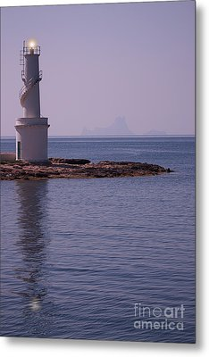 La Sabina Lighthouse Formentera And The Island Of Es Vedra Metal Print by John Edwards