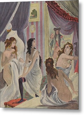 La Surprise Des Demoiselles D'honneur Metal Print by French School