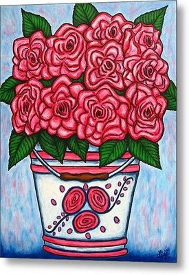 La Vie En Rose Metal Print by Lisa  Lorenz