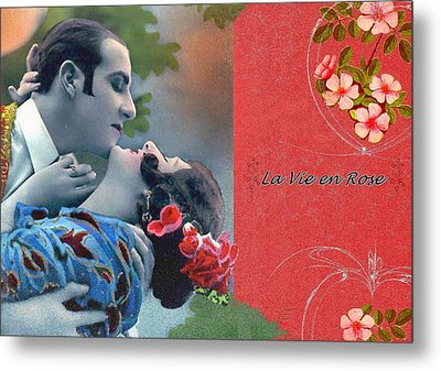 La Vie En Rose Metal Print by Mary Morawska