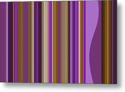 Large Purple Abstract - Two Metal Print