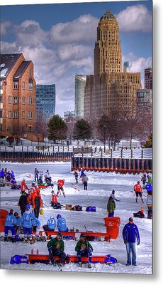 Metal Print featuring the photograph Labatt Pond Hockey 2011 by Don Nieman
