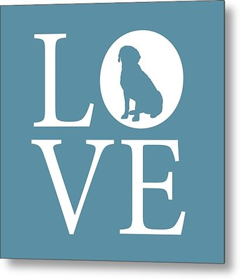 Labrador Love Metal Print by Nancy Ingersoll