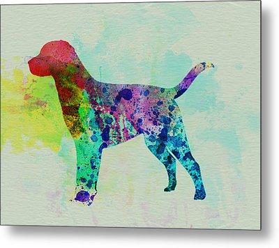 Labrador Retriever Watercolor Metal Print