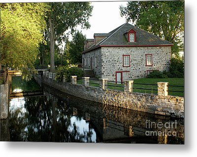 Lachine Canal Montreal Quebec Metal Print by John  Mitchell