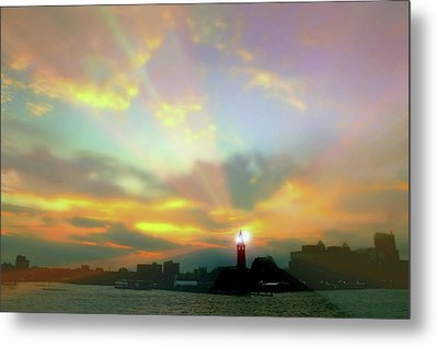 Metal Print featuring the photograph Lackawanna Transit Sunset by Diana Angstadt