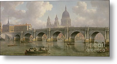 Blackfriars Bridge And St Paul's Cathedral Metal Print