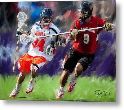 Lacrosse Close D Metal Print
