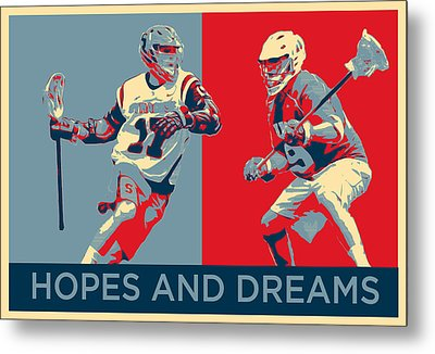 Lacrosse Pop Art Metal Print
