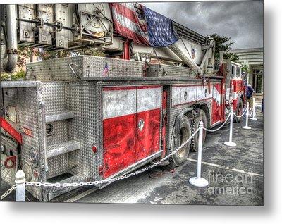 Ladder Truck 152 - 9-11 Memorial Metal Print by Eddie Yerkish