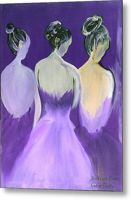Ladies In Purple Metal Print by Robert Lee Hicks