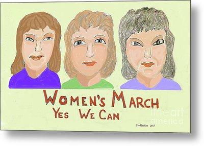 Ladies Marching Metal Print by Fred Jinkins