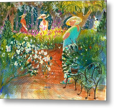 Ladies Of The Garden Metal Print by Gertrude Palmer