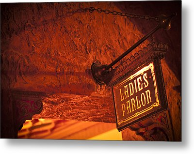 Metal Print featuring the photograph Ladies Parlor Sign by Carolyn Marshall
