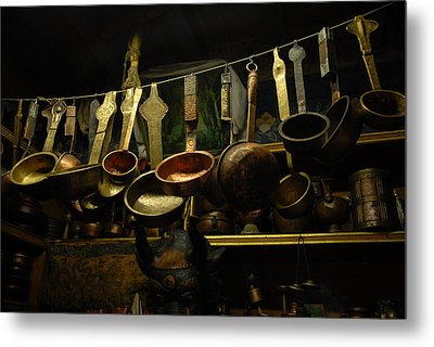 Ladles Of Tibet Metal Print by Donna Caplinger