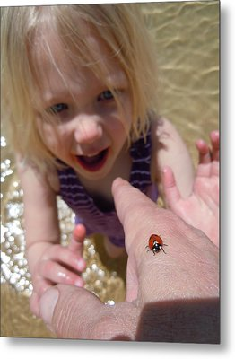 Metal Print featuring the photograph Lady Bug  by Dan Whittemore