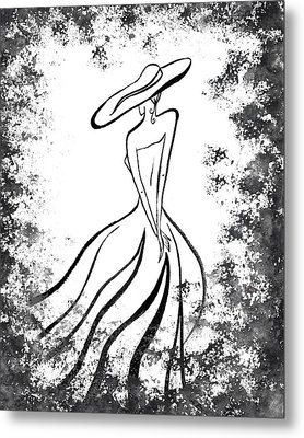Lady Charm Metal Print by Irina Sztukowski