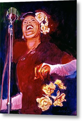 Lady Day - Billie Holliday Metal Print by David Lloyd Glover