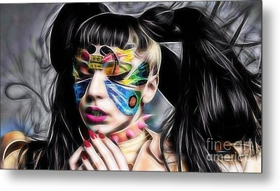Lady Gaga Collection Metal Print by Marvin Blaine
