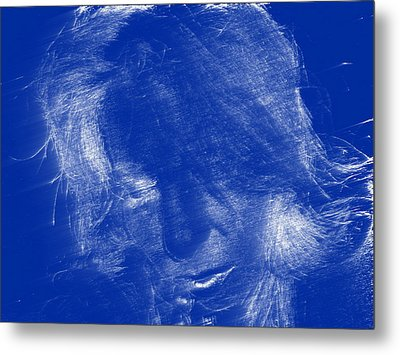 Lady In Blue Metal Print