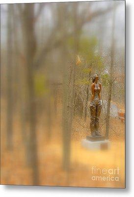 Lady In Bronze Metal Print