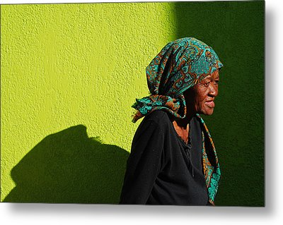 Lady In Green Metal Print by Skip Hunt