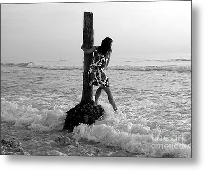 Lady In The Surf Metal Print by David Lee Thompson