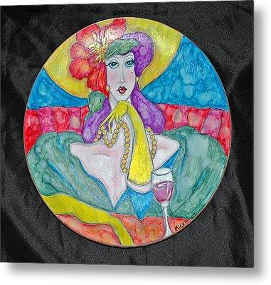 Lady In Waiting Metal Print by Mickie Boothroyd