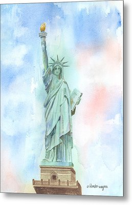 Lady Liberty Metal Print by Arline Wagner
