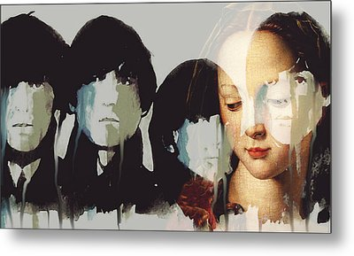 Metal Print featuring the mixed media Lady Madonna Children At My Feet  by Paul Lovering