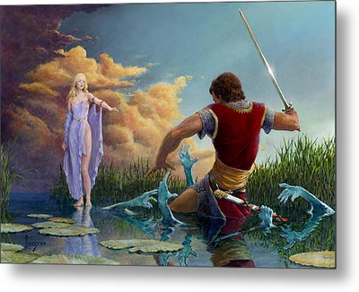 Lady Of The Waters Metal Print by Richard Hescox