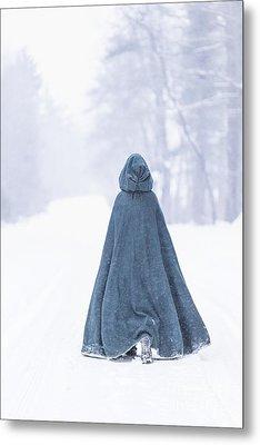 Lady Of Winter Metal Print by Evelina Kremsdorf