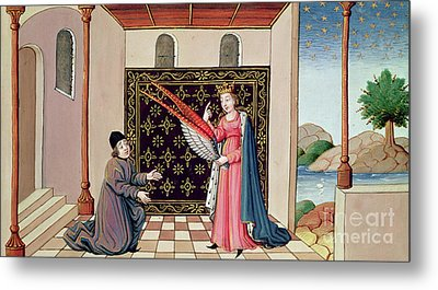 Lady Philosophy Offers To Boethius The Wings That Will Enable His Mind To Fly Aloft  Metal Print