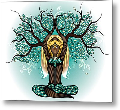 Lady Shaman Tree Metal Print by Serena King