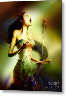 Lady Sings The Blues Metal Print by Mike Massengale