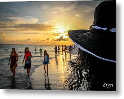 Lady With A Hat Metal Print