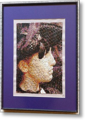 Lady With Feather Hat Metal Print by Stefano Di Marco