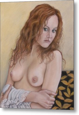 Lady With Red Hair Metal Print by Kenneth Kelsoe