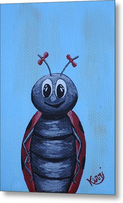 Ladybug's School Picture Metal Print by Kerri Ertman