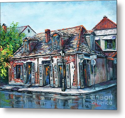 Metal Print featuring the painting Lafitte's Blacksmith Shop by Dianne Parks