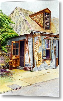 Lafittes Of New Orleans Metal Print by Karen Fleschler