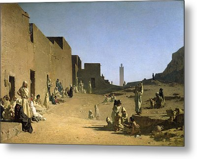 Laghouat In The Algerian Sahara Metal Print by Gustave Caillebotte