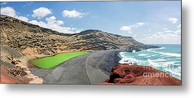 Metal Print featuring the photograph Laguna Verde by Delphimages Photo Creations